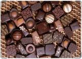 Обложка на паспорт с уголками, Шоколадные конфеты