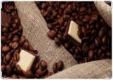 Обложка на паспорт с уголками, Кофе+шоколад