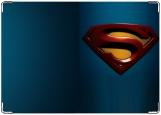 Обложка на паспорт с уголками, superman