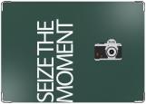 Обложка на паспорт с уголками, seize the moment