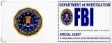 Обложка на зачетную книжку, FBI