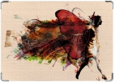 Обложка на паспорт с уголками, Женщина как бабочка