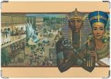 Обложка на паспорт с уголками, Эхнатон и Нифертити