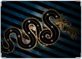 Обложка на автодокументы с уголками, Змея
