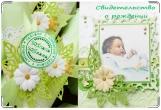 Обложка для свидетельства о рождении, мама+папа