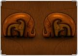 Обложка на паспорт с уголками, Деревянные слоны