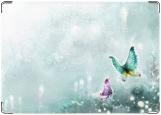 Обложка на паспорт с уголками, Бабочки 2