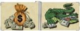 Зажим для денег, Жадный крокодил с мешком