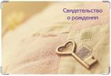 Обложка для свидетельства о рождении, ключ