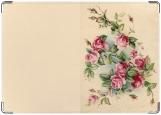 Обложка на паспорт с уголками, Цветы