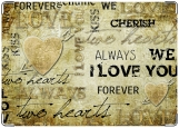 Обложка на паспорт с уголками, I LOVE YOU