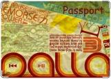 Обложка на паспорт с уголками, Мятый