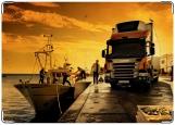 Обложка на автодокументы с уголками, Грузовик Scania