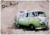 Обложка на автодокументы с уголками, Hippy bus
