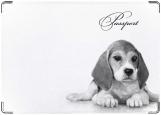Обложка на паспорт с уголками, щенок