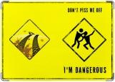 Обложка на автодокументы с уголками, Dangerous