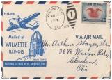 Обложка на паспорт с уголками, Конверт Air mail