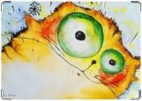 Обложка на автодокументы с уголками, рыжий кот