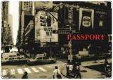 Обложка на паспорт с уголками, Нью-Йорк
