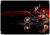 Обложка на автодокументы с уголками, мото moto