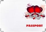 Обложка на паспорт с уголками, валентинка