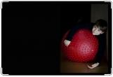 Обложка для свидетельства о рождении, на красном мяче