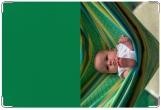 Обложка для свидетельства о рождении, в гамаке