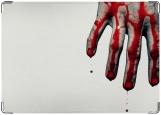 Обложка на паспорт с уголками, кровь