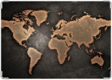 Обложка на паспорт с уголками, Карта мира