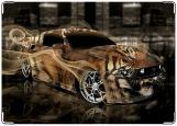 Обложка на автодокументы с уголками, Машина-тигр