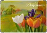 Обложка на автодокументы с уголками, Пейзаж & Цветы