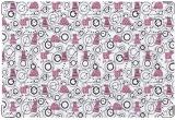 Обложка для свидетельства о рождении, розовые коты