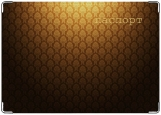 Обложка на паспорт с уголками, орнамент в золотом