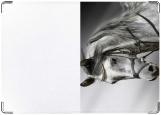 Обложка на автодокументы с уголками, белый жеребец