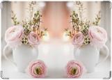 Обложка на паспорт с уголками, Цветы в вазе
