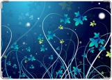 Обложка на автодокументы с уголками, цветы ночью