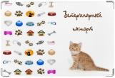 Обложка на ветеринарный паспорт, Рыжий котенок.