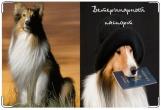 Обложка на ветеринарный паспорт, Колли.