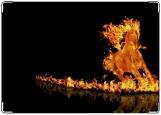 Обложка на трудовую книжку, пламя