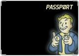 Обложка на паспорт с уголками, Vault-Boy
