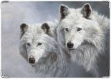 Обложка на военный билет, волки