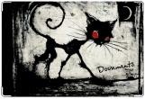 Обложка на ветеринарный паспорт, Черный кот