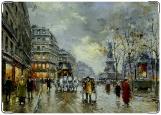 Обложка на трудовую книжку, улицы Парижа
