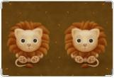 Обложка на ветеринарный паспорт, львёнок