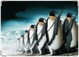 Обложка на военный билет, пингвины