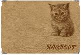 Обложка на ветеринарный паспорт, Котенок