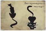 Обложка на ветеринарный паспорт, Чёрная кошка
