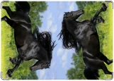 Обложка на паспорт с уголками, Черный конь