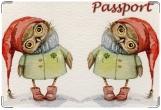 Обложка на ветеринарный паспорт, Сова