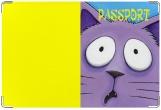Обложка на ветеринарный паспорт, Кот